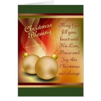 Christmas Blessing, Love Peace Joy Card