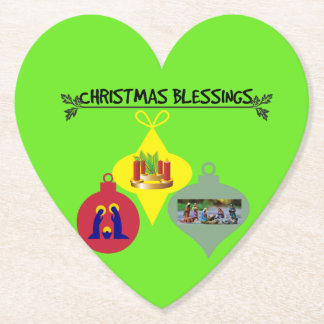 Christmas Blessing Paper Coaster
