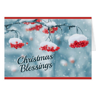 Christmas Blessings, Psalm 29:11 Bible Verse Card