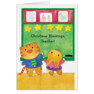 Christmas Blessings, Teacher Greeting Cards