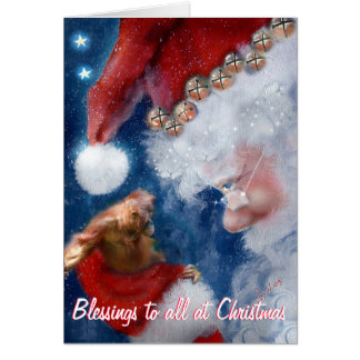 Christmas Blessings to All Note Card