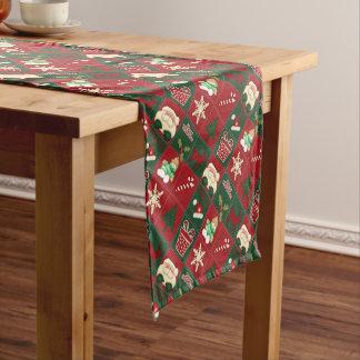 Christmas Blocks-14x72 COTTON TABLE RUNNER