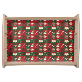 Christmas Blocks-Wooden Serving Tray