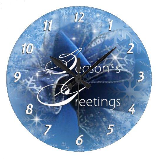Christmas Blue Ribbon Clock