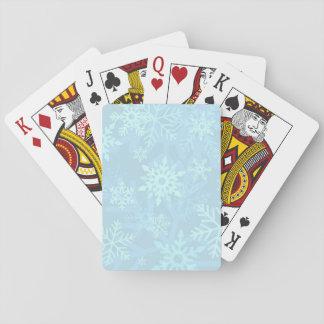Christmas Blue Snowflake Playing Cards