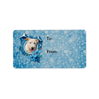 Christmas - Blue Snowflake Wire Fox Terrier Hailey
