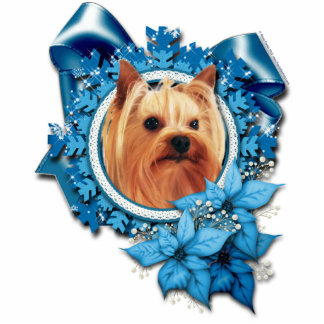 Christmas - Blue Snowflake - Yorkshire Terrier Cut Outs
