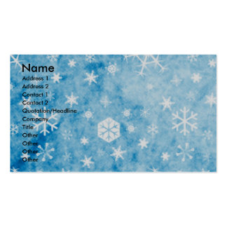 Christmas - Blue Snowflakes - Boston Terrier Business Card Templates