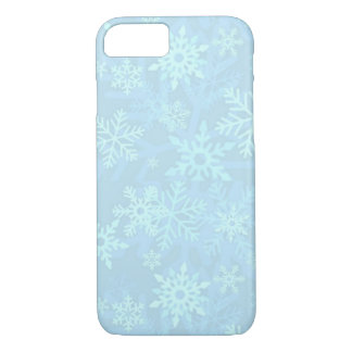 Christmas Blue Snowflakes iPhone 7 Case