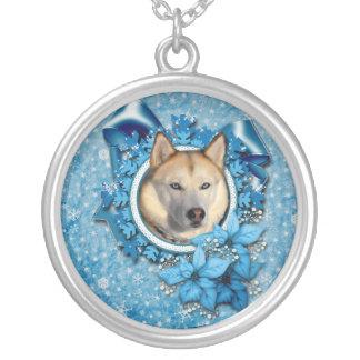 Christmas - Blue Snowflakes - Siberian Husky Jewelry