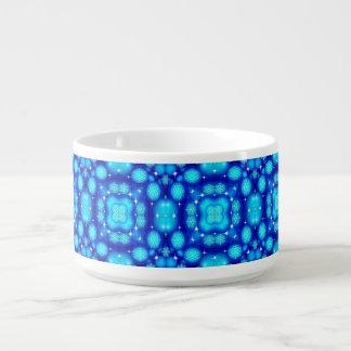 Christmas blue white snowflake pattern bowl