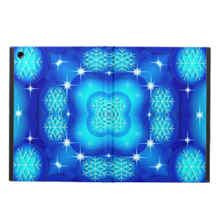 Christmas blue white snowflake pattern case for iPad air