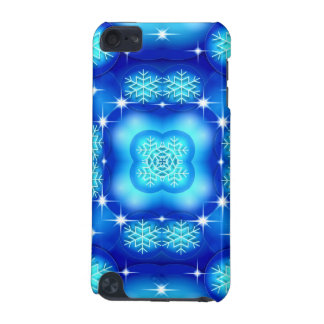 Christmas blue white snowflake pattern iPod touch (5th generation) cases