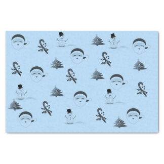 Christmas Blues Tissue Paper