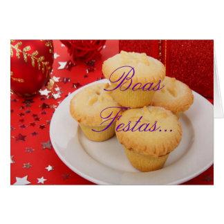 Christmas Boas Festas e um feliz Ano Novo Card
