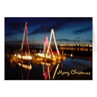 Christmas Boats, Merry Christmas Card