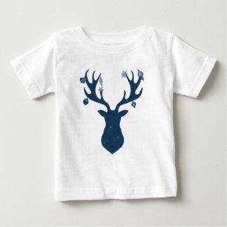 Christmas Boho Deer Head Baby T-Shirt