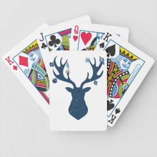 Christmas Boho Deer Head Bicycle Playing Cards