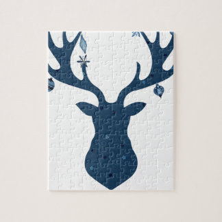 Christmas Boho Deer Head Jigsaw Puzzle