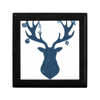 Christmas Boho Deer Head Keepsake Box