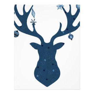 Christmas Boho Deer Head Letterhead