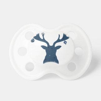 Christmas Boho Deer Head Pacifier