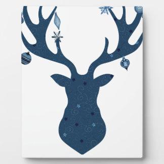 Christmas Boho Deer Head Plaque