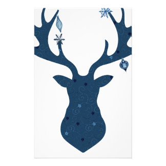 Christmas Boho Deer Head Stationery