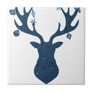 Christmas Boho Deer Head Tile