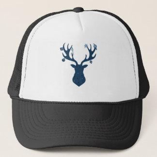 Christmas Boho Deer Head Trucker Hat