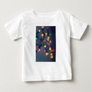 Christmas bokeh lights baby T-Shirt