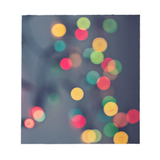 Christmas bokeh lights notepad