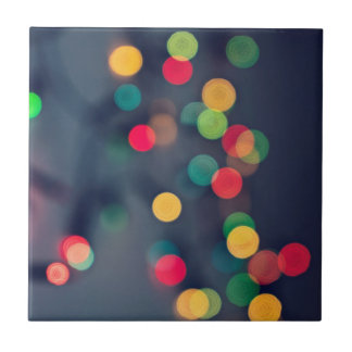 Christmas bokeh lights tile