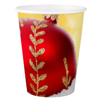 Christmas Bokeh Snow Christmas Ball Paper Cup