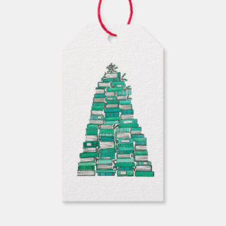 Christmas Book Tree Gift Tags