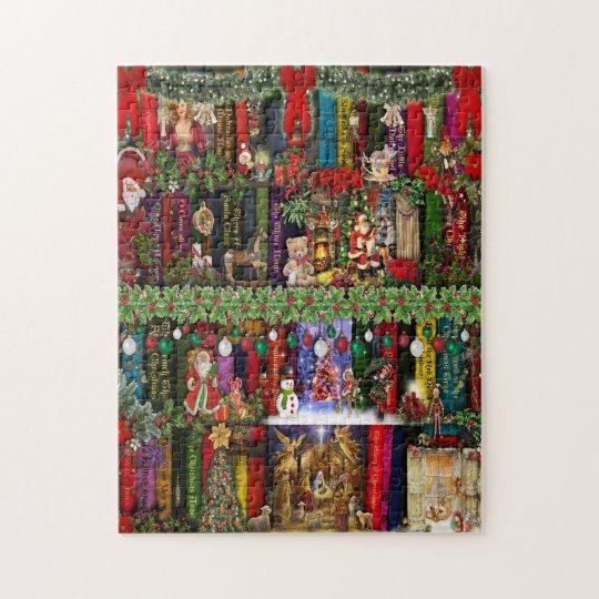 Christmas Bookshelf Jigsaw Puzzel Jigsaw Puzzle