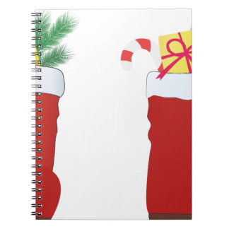 Christmas Boots Spiral Notebook