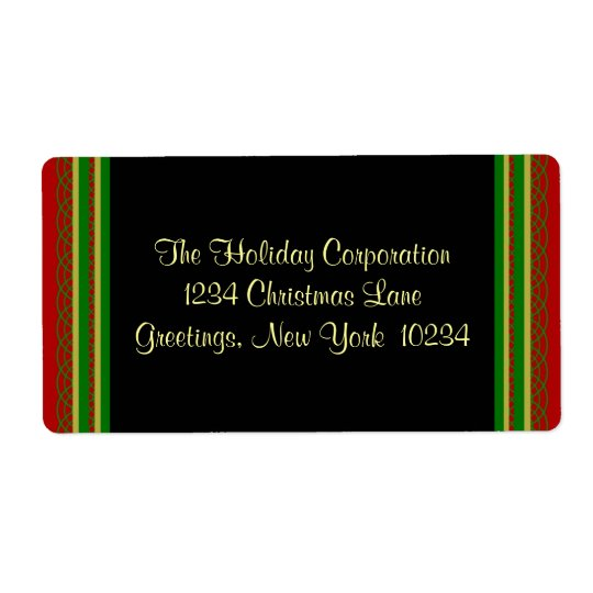 Christmas Border Address Labels