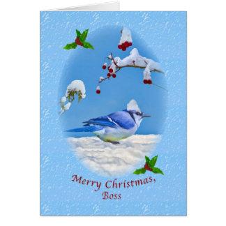 Christmas, Boss,  Blue Bird and Snow Card