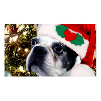 Christmas Boston terrier Pack Of Standard Business Cards