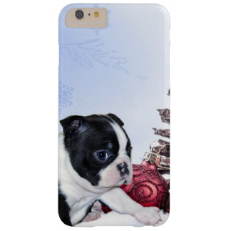 Christmas Boston Terrier dog iphone 6 plus case