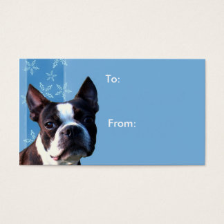 Christmas Boston terrier gift tags Business Card