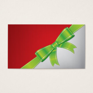 Christmas bow business card