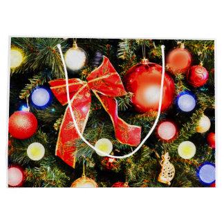 Christmas bow large gift bag