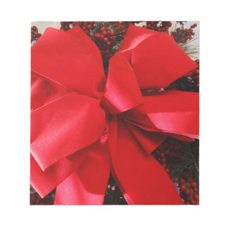 Christmas Bow Notepad