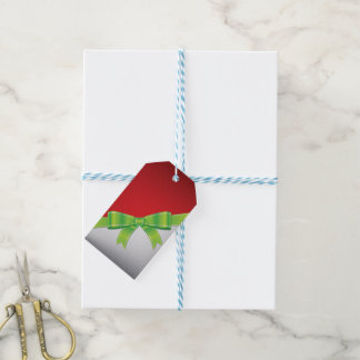 Christmas bow pack of gift tags