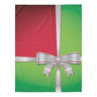 Christmas bow tablecloth