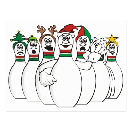 Bowling christmas. Funny pictures