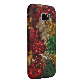 Christmas Bows Colorful Festive Holiday Samsung Galaxy S6 Cases
