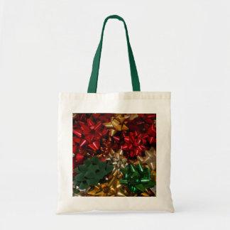 Christmas Bows Colorful Festive Holiday Tote Bag